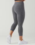 Glyder - Top Notch 7/8 Stone Grey Melange, Glyder Apparel - Pronounce Activewear