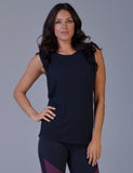 Slash Tank in Black - Women's Yoga Tanks - Glyder Apparel, Glyder Apparel - Pronounce Activewear