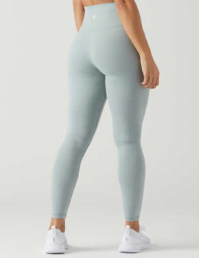 Glyder - HIGH WAIST PURE LEGGING: GREEN MILIEU MELANGE, Glyder Apparel - Pronounce Activewear
