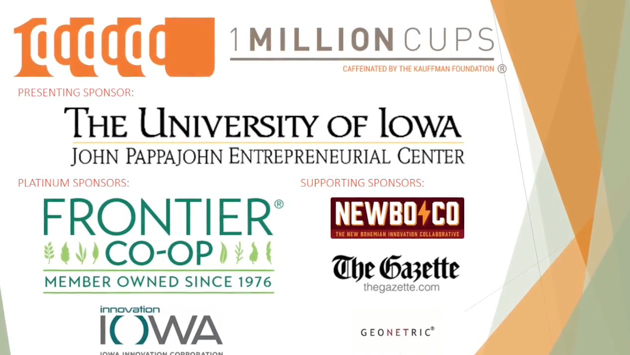 freelancekit speaks at 1 Million Cups in Cedar Rapids, Iowa