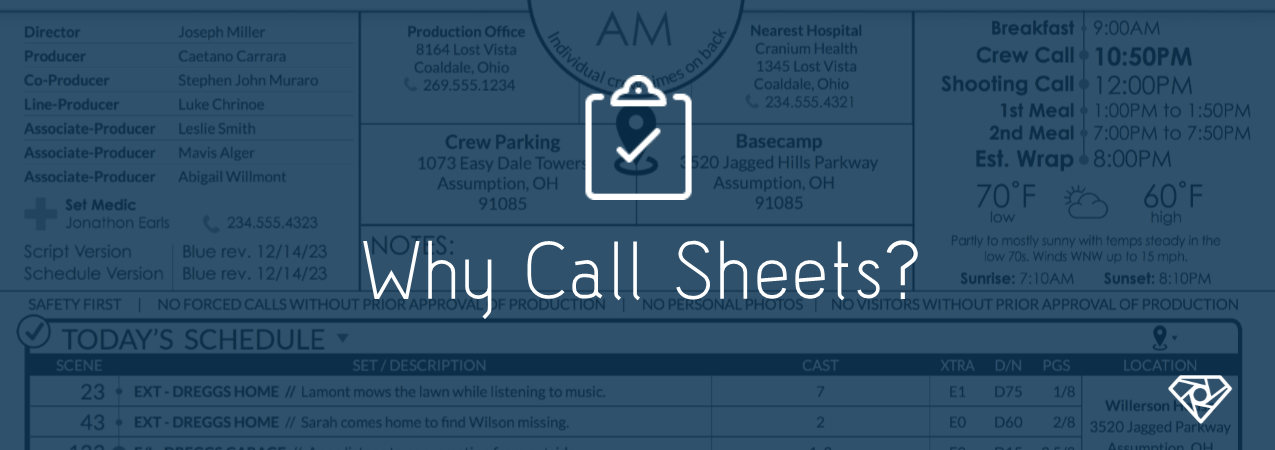 Why Call Sheets?