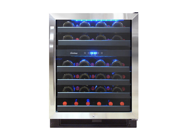 Vinotemp 46 Bottle Dual Zone Wine Cooler Black And