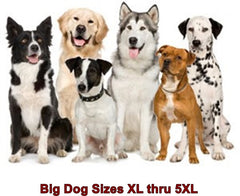 Big Dog Selections Sizes  XL  through  5XL
