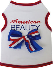 American Beauty Tank Dress in color Red/White/Blue for dogs