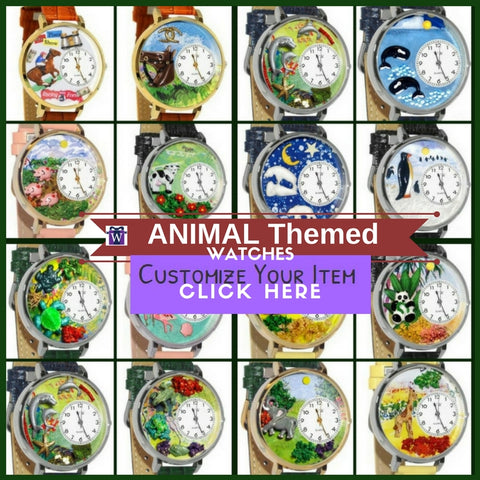 Whimsical Pets Dogs Cats Horses Zoo Aquatic Polar and Barnyard Animal Themed Watches & Jewelry