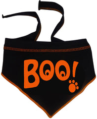 BOO! Ghostly Eyed Bandana Scarf in color Black/Orange