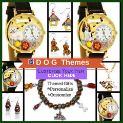 Whimsical Gifts Dog themed Watches Earrings Jewelry sets and gifts for dog lovers