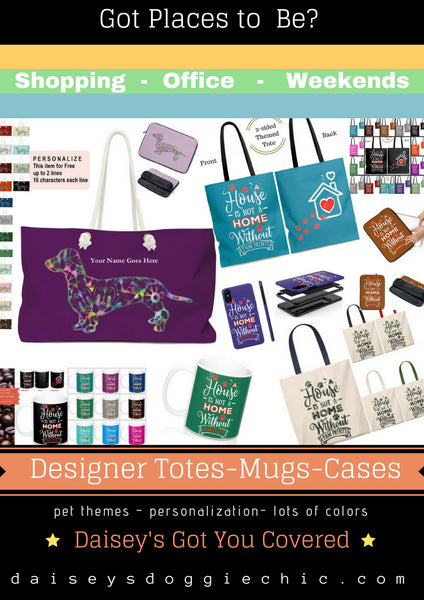 Personalized custom design totes mugs cell phone and laptop cases for pet lovers
