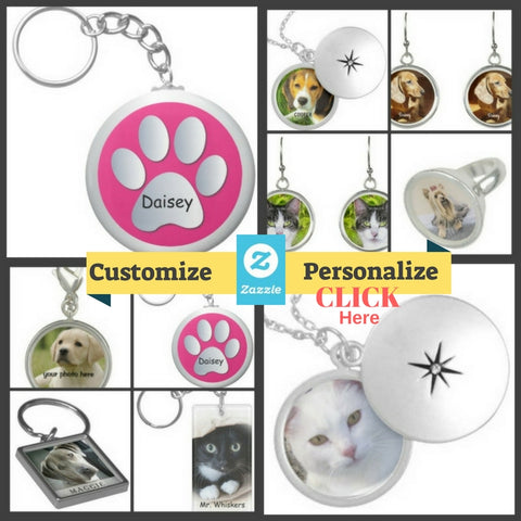 Custom Dogs & Cats Jewelry and key chains customize personalize gifts for pet lovers