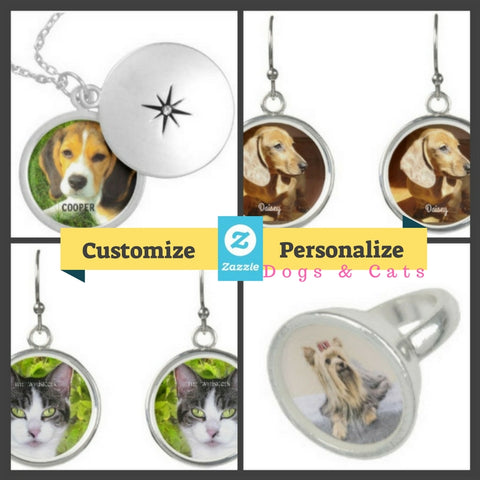 Customize and Personalize Jewelry Earrings Rings Necklaces Bracelets Zazzle