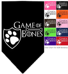 Game of Bones Bandana Scarf in 10 color choices for Dogs or Cats