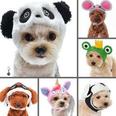 Character Plush Hats for Dogs