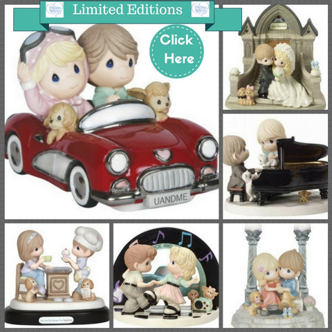 Precious Moments Love Wedding Limited Editions Dog cat pals buddies figurines
