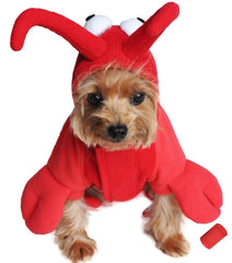 Plush Red Lobster Costume for Dogs