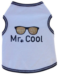 Mr. COOL Tank Tee in color White for dogs