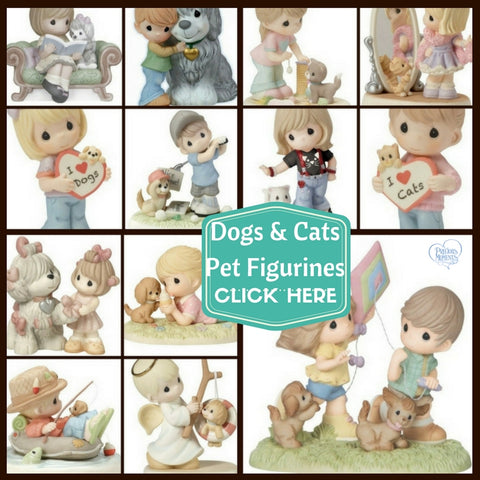 Precious Moments Dog Cat Pet with their Pals and Buddies Themed Figurines