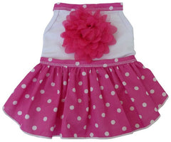 Pink Polka Dotted Daisy Party Dress