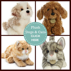 Stuffed Animals Plush Dogs and Cats toy gifts by animal type and breed for pet lovers