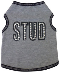 STUD Tank Tee in color Heather Gray for dogs