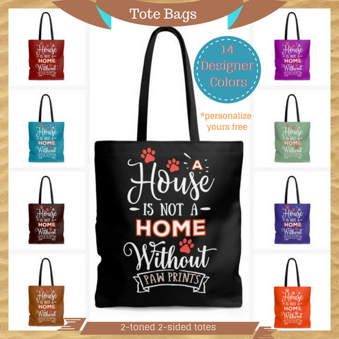 Tall Tote Bags Pet Themed Tote Bags for pet lovers customize and personalize
