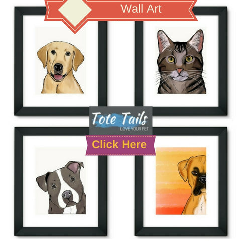 Tote Tails Personalized Dog Cat Wall Art for Pet Lovers