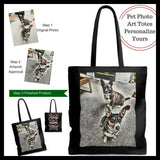photo pet theme tall tote bags gifts for pet lovers