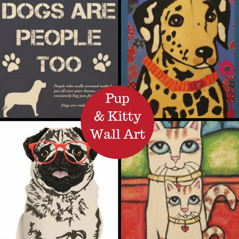 Zazzle Dog Cat Pet Themed Personalized Custom Wall Art for Pet Lovers