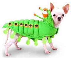 Speckled Green Caterpillar Costume Suit for Dogs