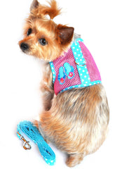Under The Sea Flip Flop Cool Mesh Harness Vest and matching Leash Set
