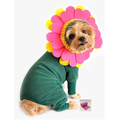Flower Pot Pajama Styled Pet Costume with Petals Headpiece