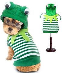 Green Frog Hoodie Costume Sweater for Dogs