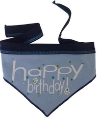Happy Birthday (Boy) Jeweled Bandana Scarf in Blue