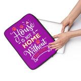 Laptop Sleeve Case - A House Isn't a Home Without Paw Prints Theme - Color Purple - in 3 Sizes - Personalize Free - Daisey's Doggie Chic