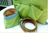 "Jennifer Brooks LLC ""Zip Tote"" Portable Dog Bed in Color Parrot Green - Daisey's Doggie Chic"
