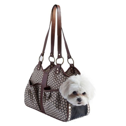Classic Metro Noir Designer Pet Carrier Tote available in 3 Sizes - Daisey's Doggie Chic - 1