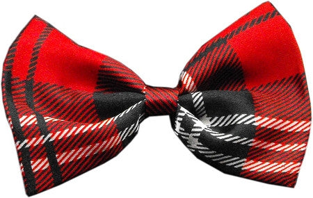 Super Fun & Festive Bow Tie for Small Dogs in Red Plaid - Daisey's Doggie Chic