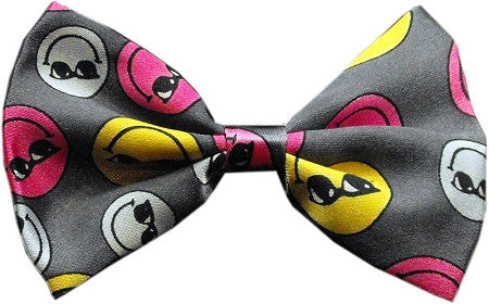 Super Fun & Festive Bow Tie for Small Dogs in Smileys - Daisey's Doggie Chic
