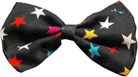 Super Fun & Festive Bow Tie for Small Dogs in Confetti Stars - Daisey's Doggie Chic