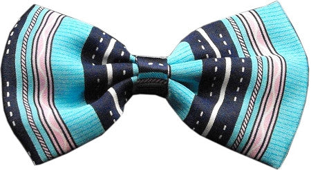 Super Fun & Festive Bow Tie for Small Dogs in Dog's Night Out Blue - Daisey's Doggie Chic