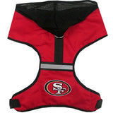 San Francisco 49ers  NFL dog Hoodie Harness in Color Red - Daisey's Doggie Chic - 1