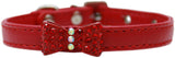 Bow-Dacious Crystal Bow Tie Collar in Color Red - Daisey's Doggie Chic