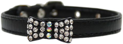 Bow-Dacious Crystal Bow Tie Collar in Color Black - Daisey's Doggie Chic