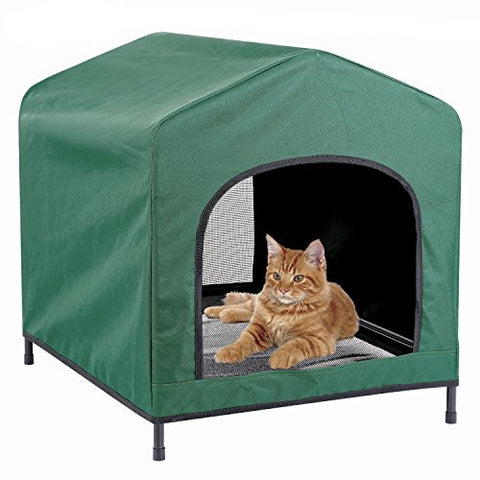 Kleeger Premium Canopy Pet House Retreat – Waterproof Indoor & Outdoor Shelter - Suitable For Cats & Small Dogs - Lightweight, Portable & Comfortable - Breathable Mesh Floor - Daisey's Doggie Chic