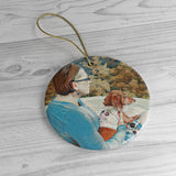Daisey & Me Heart Ceramic Ornaments - Daisey's Doggie Chic