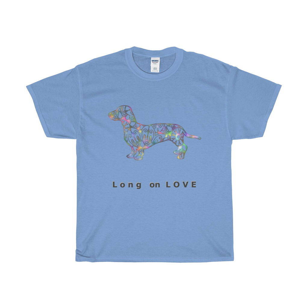 Dachshund Long on LOVE Classic Relaxed Fit Heavy Cotton Tee - Adult (Unisex) Sizes S to 5XL - in 11 Colors - Daisey's Doggie Chic