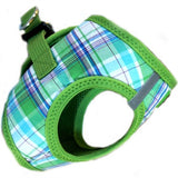 "American River ""Turqouise Green Plaid"" Ultra Choke Free Step-in Harness Vest - Daisey's Doggie Chic - 2"