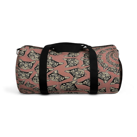 Custom Duffle Bag - Cats Spirals and Swirls (shown in Cinnamon Kaleidoscope) - Choice of 9 Colors  - 2 Sizes - Daisey's Doggie Chic