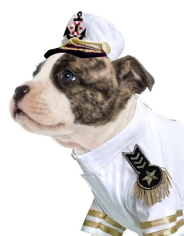 Admiral Gold Festooned Deluxe Yachting Hat for Dogs - Daisey's Doggie Chic