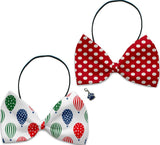 Air Balloon Races - Fun Party Themed Bowtie 2-Pack set with Charm Accessory for Dogs or Cats - Daisey's Doggie Chic