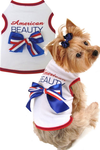 American Beauty Tank Dress in color Red/White/Blue - Daisey's Doggie Chic